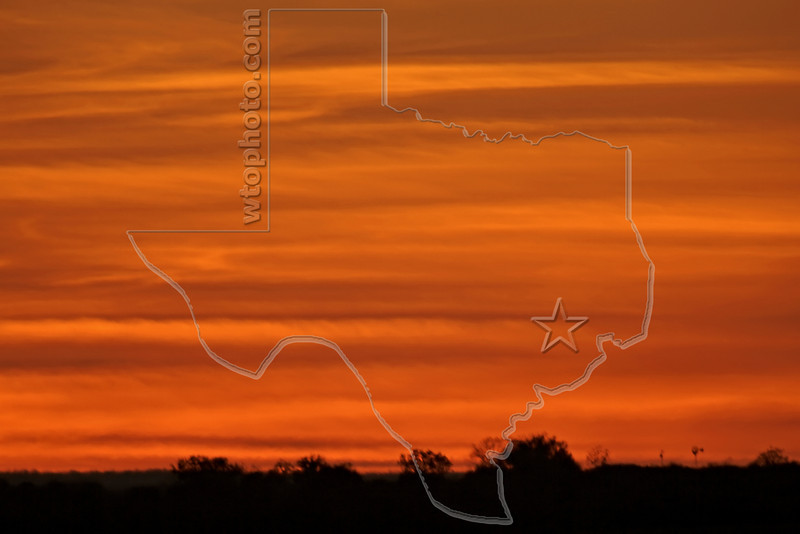 Country Sunset Clouds,<br /> Nordheim, Texas