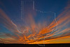 Sunset Clouds and New Moon,<br /> Sugar Land, Texas