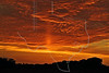 Sunset with Sun Pillar,<br /> Sugar Land, Texas