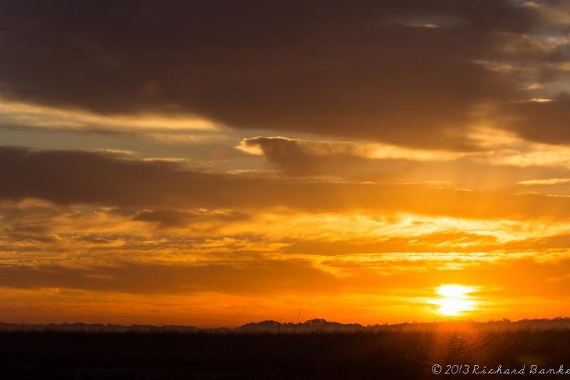 Sunrise over the prairie, Attwater Prairie Chicken National Wildlife Refuge, April 13, 2013
