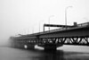 Auckland Harbour Bridge in the fog