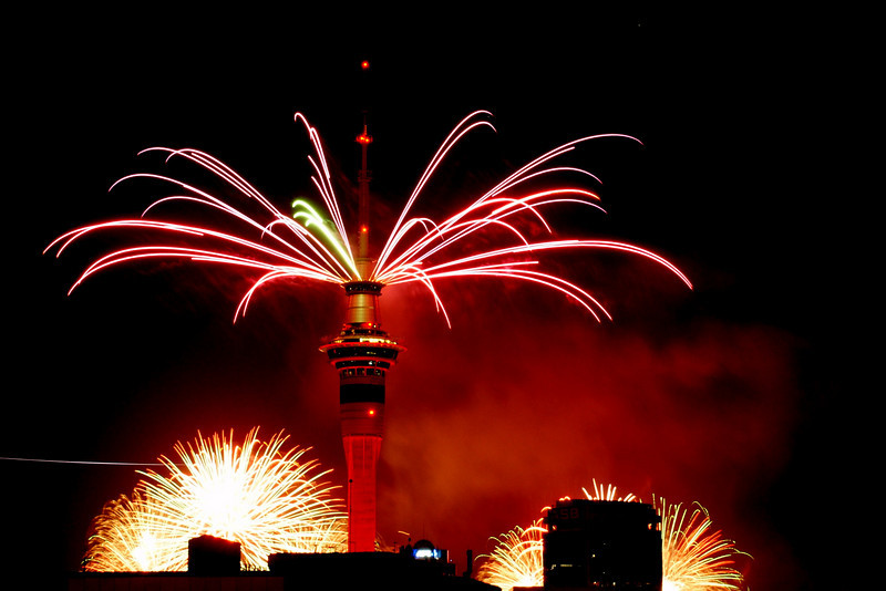 Auckland Sky Tower, New Year's Eve.31/12/2010.