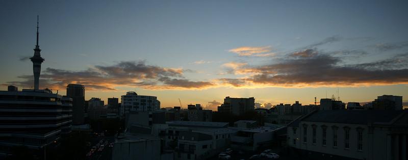 Auckland morning skyline.