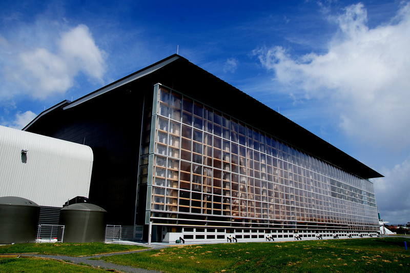 MOTAT 2 Aviation Display Hall, which has a clever natural heating and cooling temperature regulation system.