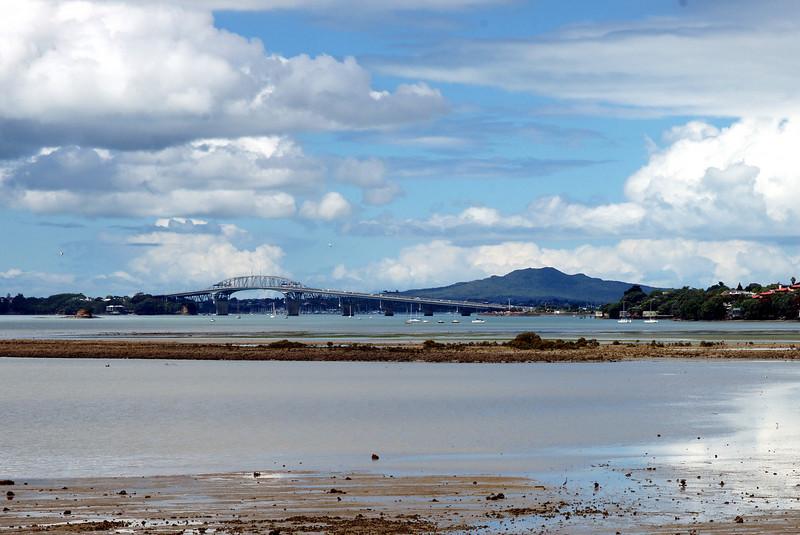 Auckland Harbour Bridge and Rangitoto