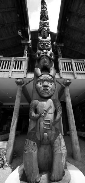 Maori Carving, Waitakere Ranges