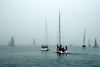Auckland Harbour...into the fog.