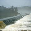 Morning mist over dam at Augusta Locks
