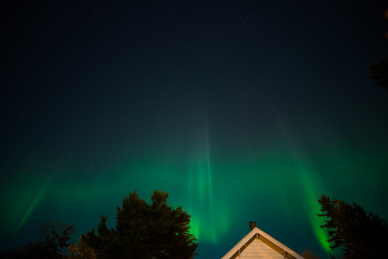 Aurora Borealis over East Hancock