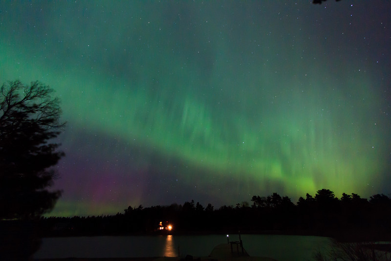 Aurora Borealis over Copper Harbor