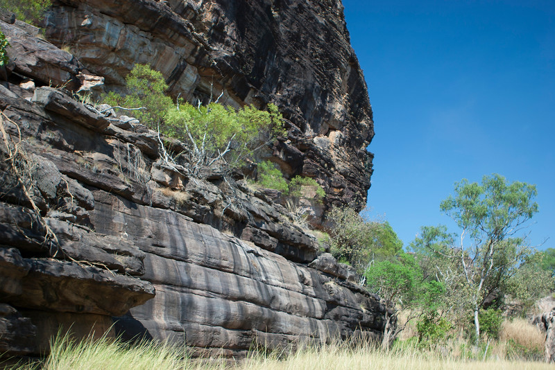Cliff with cave paintings in Arnhem Land