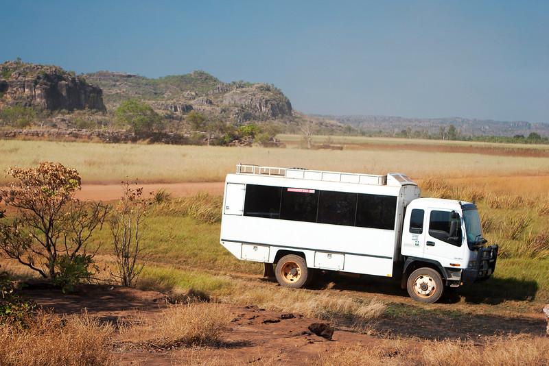 Tour bus for the Arnhem Land