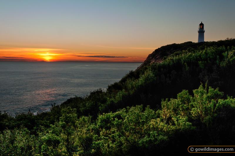 Cape Schanck lighthouse at sunset