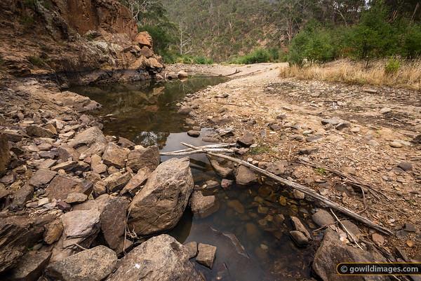 Lerderderg River, Near Grahams Dam, Lerderderg Gorge SP