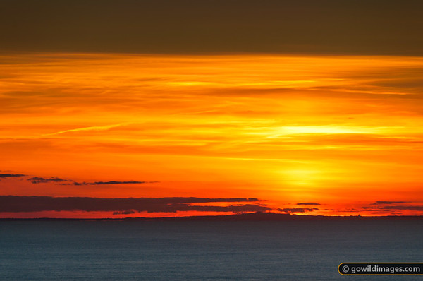 The sunset view towards Anglesea from Cape Schanck