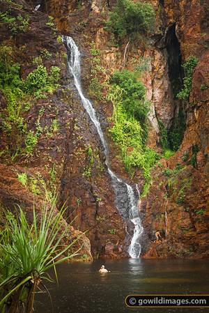 Wangi falls at the beginning of the wet season. Litchfield NP, NT.
