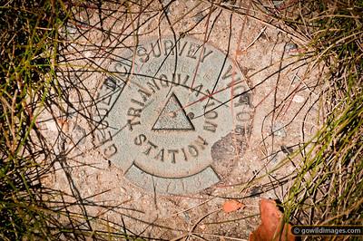 Trig point, Mt Cobbler summit
