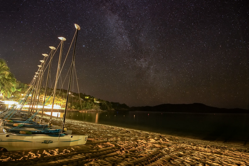 Catamarans Under the Stars