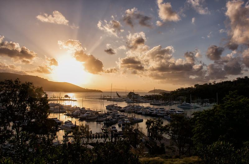 Sunburst Over the Marina