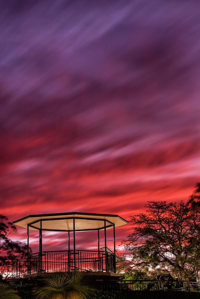 Fiery Solstice Sky