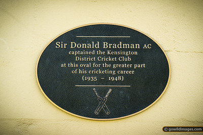 Donald Bradman Plaque