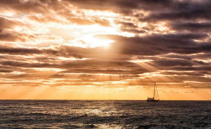 Sailing Into the Sunburst