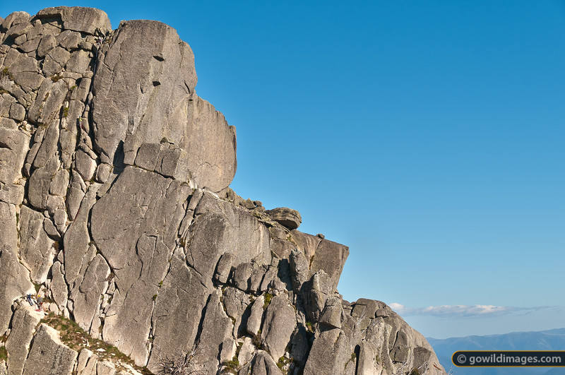 Rock climbers near The Horn, Mt Buffalo