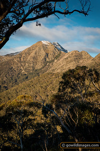 The west ridge of Mt Buller in early winter, as seen from Round Hill.
