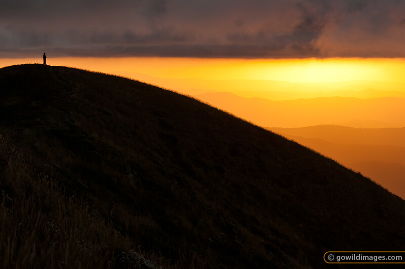 Sunset from Mt Feathertop