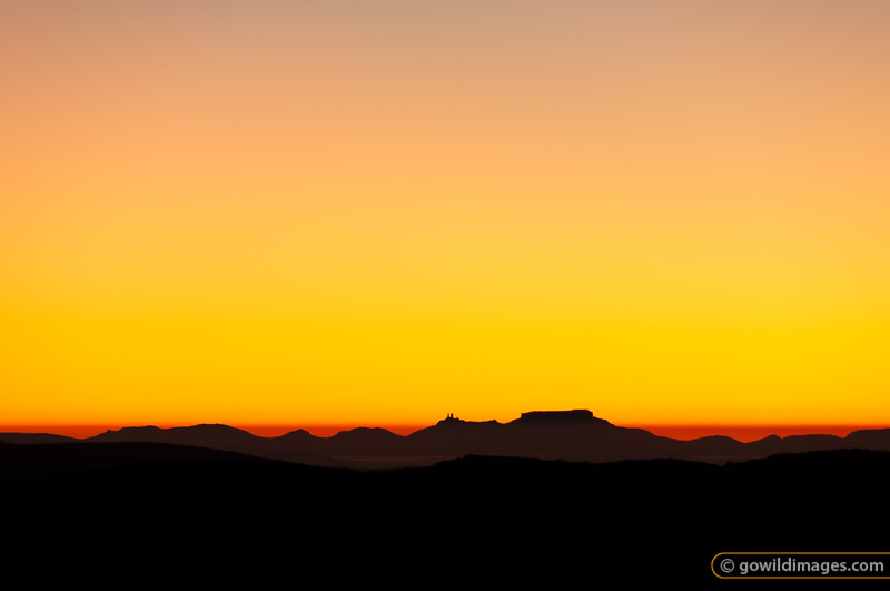 Looking east from Mt Feathertop at sunrise