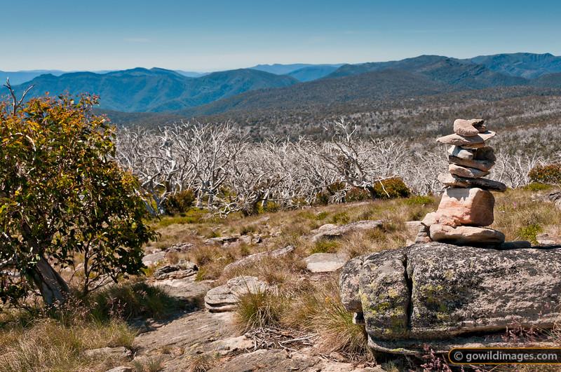Rock cairn, Mt Cobbler