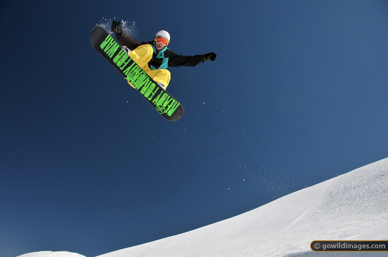 Aerial play on the terrain park at Falls Creek, below St Elmo's Slide, 1 September 2012