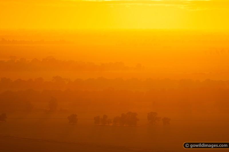 Sunrise over farmland, from Mt Terrick Terrick, Terrick Terrick NP