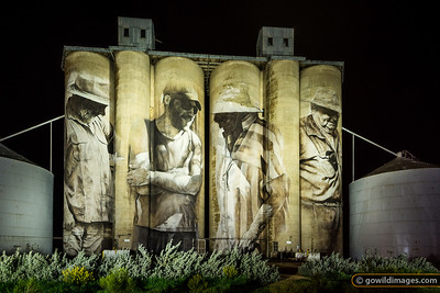 Brim Silos by Night