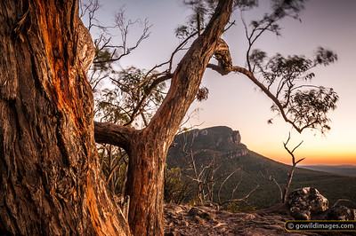 Sunrise over Mount Abrupt, Grampians National Park. Taken from The Picanninny. 4 second exposure.