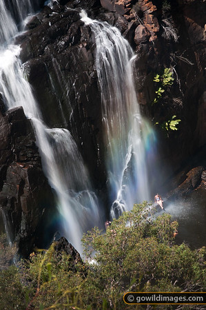 Swimmers at Mackenzie Falls, Northern Grampians