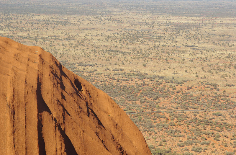 The top of Mount Uluru