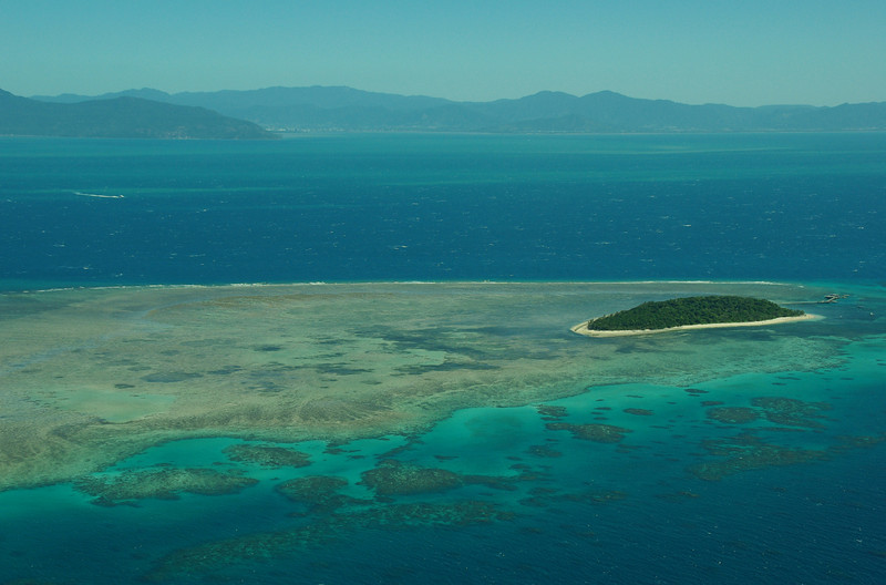 Green Island from above, Queensland