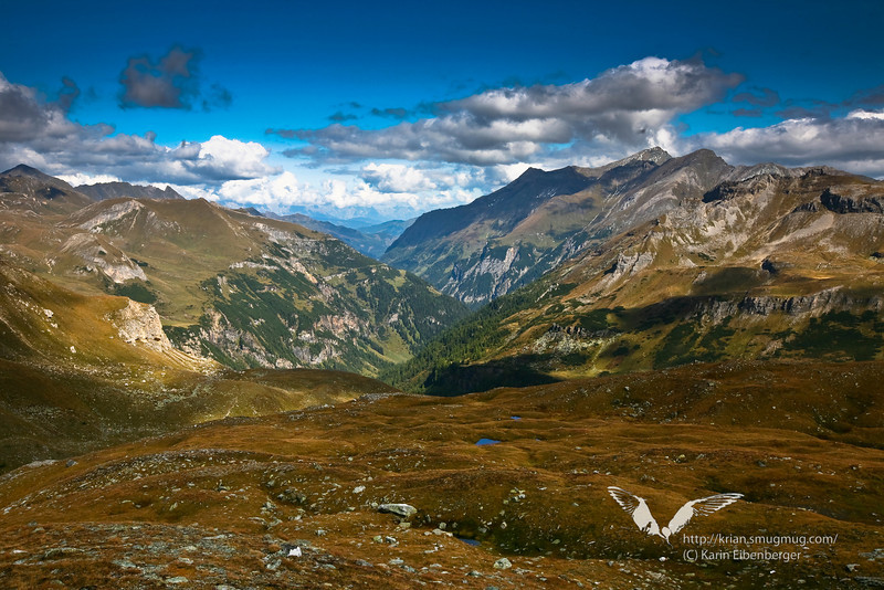 Hohe Tauern national park, looking down the Krumltal.