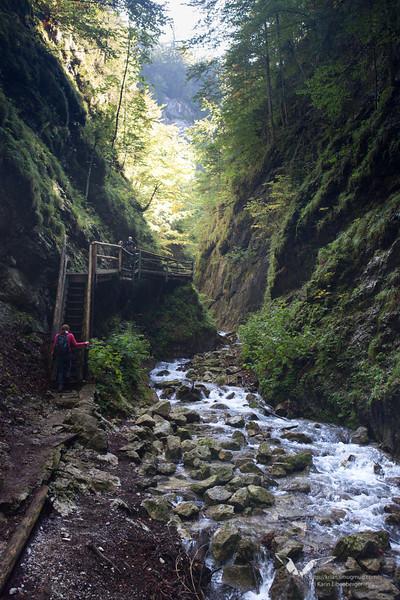 September 2012. Hiking the 'Dreihuettentour' through the Dr. Vogelsang Klamm.