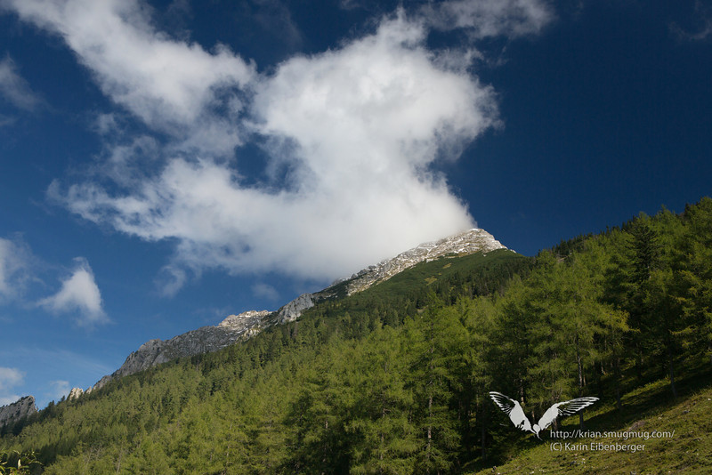 September 2012. Hiking the 'Dreihuettentour'. Another view of the Grosser Pyhrgas.