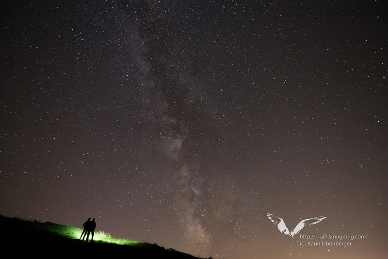 August 2012. A moonless night sky above Hall and Innsbruck as seen from the Walderalm.
