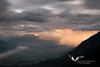 June 2011. Evening light after a quite impressive thunderstorm. View from the Hinterhornalm down into the Halltal.