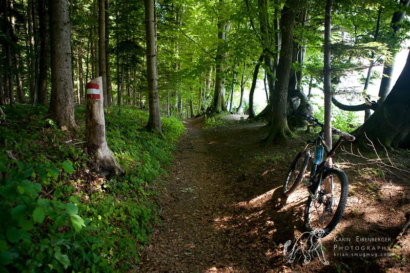 May 2011. Mountainbiking at it's best. Near St. Leonhard.