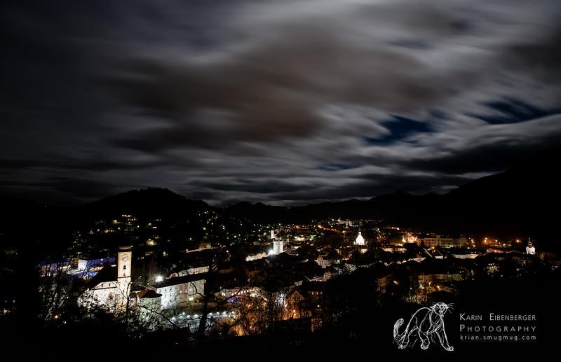 Night sky above Waidhofen/Ybbs.
