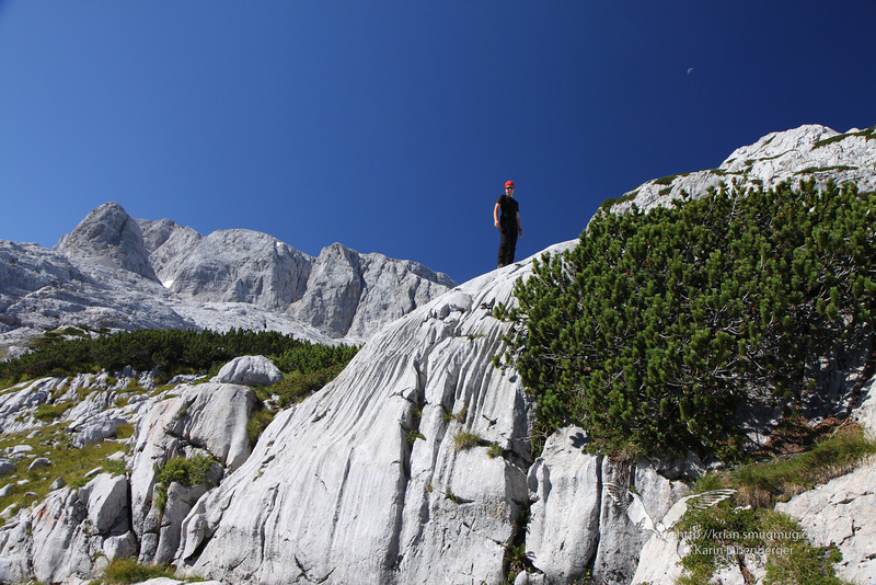 September 2012. Hiking (and scrambling) to the Simonyhuette on the Dachsteinplateau.