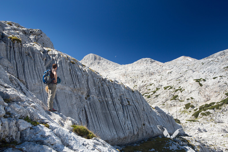 September 2012. Hiking to the Simonyhuette on the Dachsteinplateau.