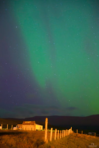 Aurora Over Farmhouse