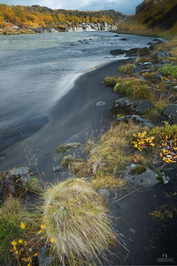 Shoreline at Hraunfossar