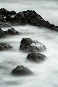 Misty Boulders